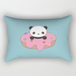 Kawaii Cute Panda Donut Rectangular Pillow