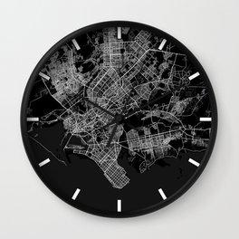 Karachi City in Pakistan - Full Moon Wall Clock