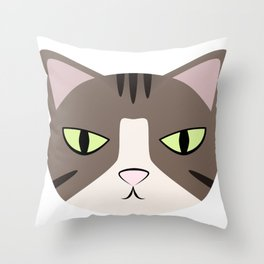 Grumpy Princess Hannah Throw Pillow