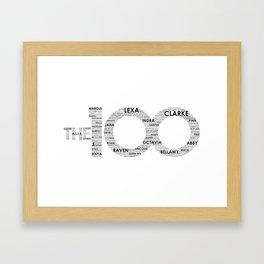 The 100 - Typography Art [black text] Framed Art Print