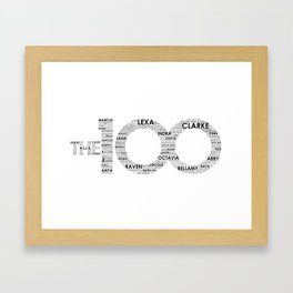 The 100 - Typography Art [black text] Framed Art Print