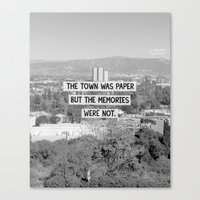 john green Canvas Prints featuring Paper Towns John Green Quote by denise
