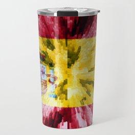 Extruded Flag of Spain Travel Mug