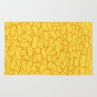 mac Area & Throw Rugs featuring Mac and Cheese by Nick Volkert