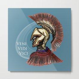 """Julius Caesar  """"I came; I saw; I conquered"""" Metal Print"""