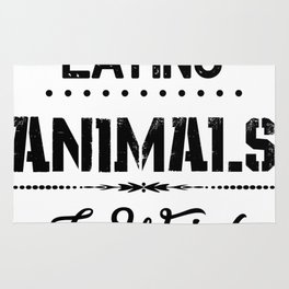 Eating Animals Is Weird Vegan Vegetarian Gift Rug