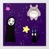 ghibli Canvas Prints featuring Ghibli by KawaiiLily