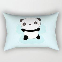 Kawaii Panda Snow Angel Rectangular Pillow