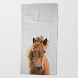 Wild Horse - Colorful Beach Towel