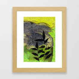 flow flower flow Framed Art Print