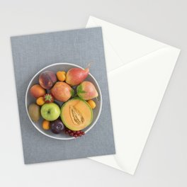 Fruits on a plate Stationery Cards