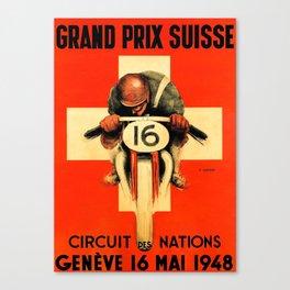 Grand Prix de Suisse, Race Poster, Vintage Poster, t-shirt Canvas Print