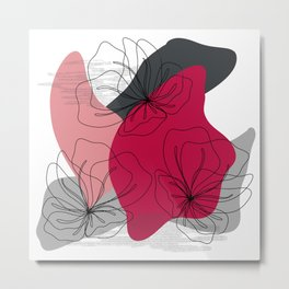Abstract Cherry Blossom Metal Print