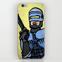 robocop iPhone & iPod Skins featuring RoboCop by Rat McDirtmouth