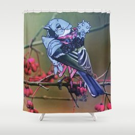 Birds In Armor 2 Shower Curtain