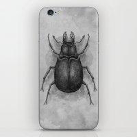 beetle iPhone & iPod Skins featuring Beetle by Salih Gonenli