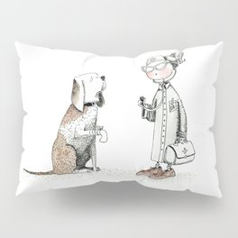 The little doctor and her dog |INJURED| by Alison Pillow Sham