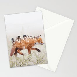 Crystal Fox Pup Stationery Cards