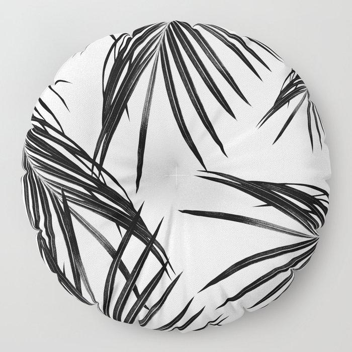 Black Palm Leaves Dream #1 #tropical #decor #art #society6 Floor Pillow