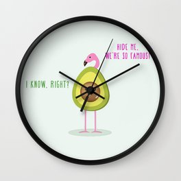 We're so famous! Wall Clock