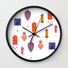 Lightup with Lantern Wall Clock