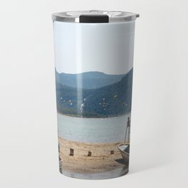 The Kite Surfers Beach Akyaka Turkey Travel Mug