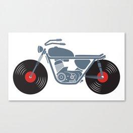 Vinyl Motorcycle Canvas Print