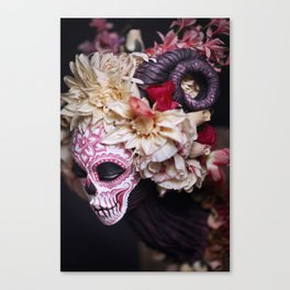 April Blossom Muertita Side Canvas Print