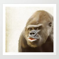 gorilla Art Prints featuring Gorilla by Asya Solo