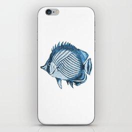 Fish coastal ocean blue watercolor iPhone Skin