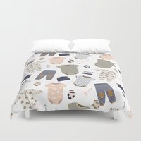 baby Duvet Covers featuring baby by Ceren Aksu Dikenci