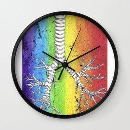 Rainbow Bronchial Tree Wall Clock