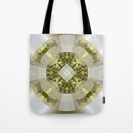 Microchip Mandala in Gold Tote Bag