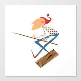 Log Driver Canvas Print
