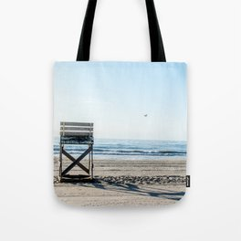 While the Lifeguards Away Tote Bag