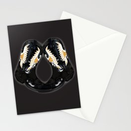 Crocked Boots in gray Stationery Cards