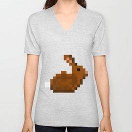 Pixel Rabbit Unisex V-Neck