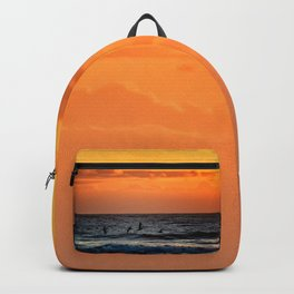 Four Pelicans at Sunrise Backpack