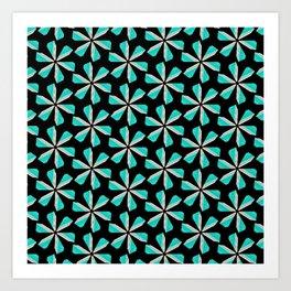 floral geometrical pattern Art Print