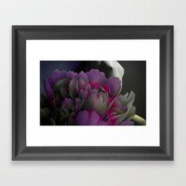 Indigo Flower Framed Art Print
