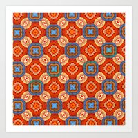 persian Art Prints featuring Persian Parlor by Peter Gross