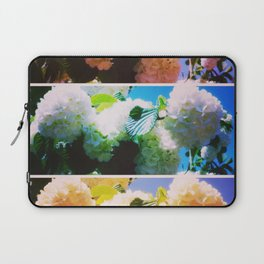 Bright Snowball Branch Collage (III) Laptop Sleeve