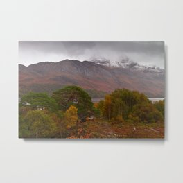 Loch Maree and the Slioch Metal Print