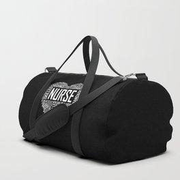 Love Nurse Heart Duffle Bag