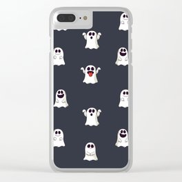 Ghost Pattern Clear iPhone Case