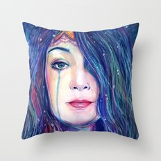 Our Lady of The Deep Throw Pillow