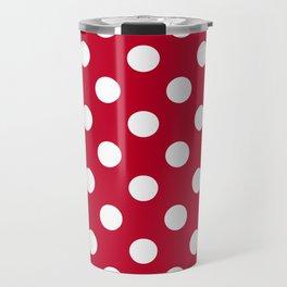 Red and Polka White Dots Travel Mug