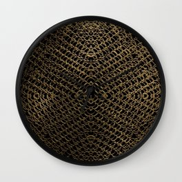 Gold Chain Mail Wall Clock