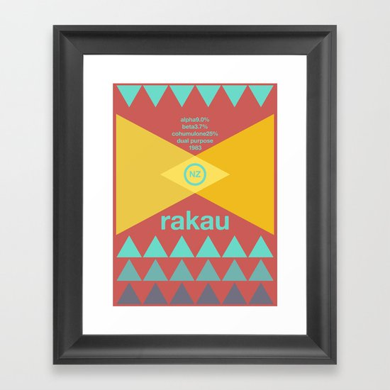 rakau single hop Framed Art Print