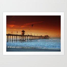 beach pier art prints | Society6